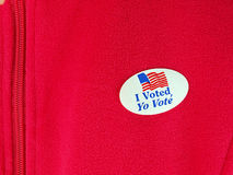 I voted sticker Stock Photos