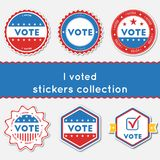 I voted stickers collection. Stock Photography