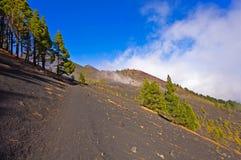 I vulcani dirigono nell'isola di Palma della La, Spagna Fotografie Stock