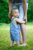 I wanna be with mom Stock Image