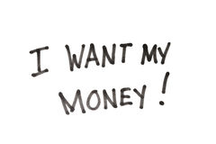 I want my money Royalty Free Stock Photo