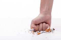 I want to be healthy without nicotine Stock Photography
