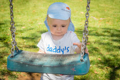I want to go on the swing Royalty Free Stock Photos