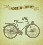 I want to ride my bicycle Stock Image