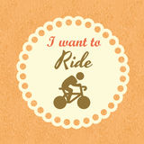 I want to ride Royalty Free Stock Photo