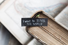 I want to travel the world concept Royalty Free Stock Image