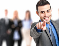 I want you. Handsome businessman pointing his finger at you Royalty Free Stock Photo