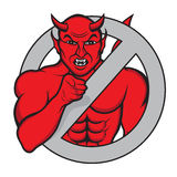 I WANT YOU. Illustration of an evil devil in the iconic stance pointing his finger at those who look Stock Photos