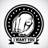 I want you Stock Photography