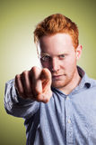 I want you. Young entrepreneur wants you Stock Photography