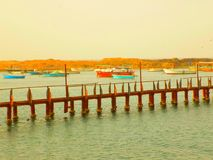 The old bridge. Since I was a child, this bridge is in Alexandria and it has become a house for birds only Stock Image