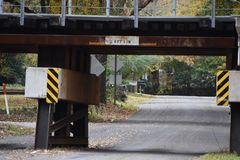 Low Bridge in Gilmer Texas Nov 25 2018. I was driving in East Texas and found this cool sight royalty free stock photos