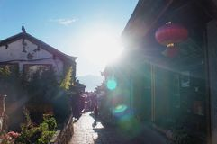 The morning in the Lijiang China stock image