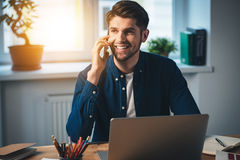 I was waiting for your call! Stock Photography