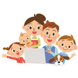 I watch a PC in, families Royalty Free Stock Image