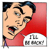 I will be back male hero face Royalty Free Stock Images