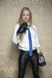 I will fight for my business. Businesswoman stock image