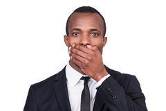 I will say nothing. Royalty Free Stock Images
