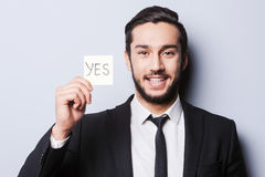 I will say yes! Stock Images