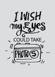 I wish my eyes could take photos. Stock Photos