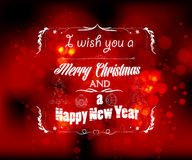I wish you a christmas and new year greeting card. Happy new year background and greeting card design Stock Photo