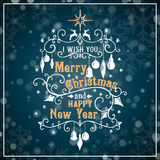 I wish you a Merry Christmas and Happy New Year Stock Image