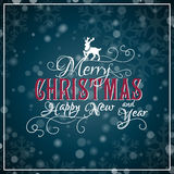 I wish you a Merry Christmas and Happy New Year Royalty Free Stock Photography