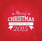 I Wish You A Merry Christmas And Happy New Year Vintage Christmas Background With Typography Royalty Free Stock Photo