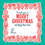I wish you a Merry Christmas lettering Stock Photo