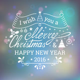 I wish you a Merry Christmas Royalty Free Stock Images