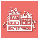 I wish you a very Merry Christmas. Royalty Free Stock Image