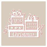 I wish you a very Merry Christmas. Royalty Free Stock Photos
