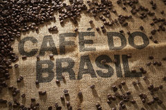 I would draw from Brazilian coffee wrapped. in coffee beans Stock Photos