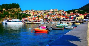 The colorful Parga royalty free stock images