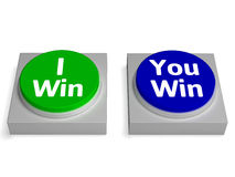 I You Win Button Shows Winning Or Losing Stock Photo