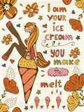 I am your ice cream you make me melt Stock Images
