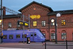 I Ystad södra Sverige, Skandinavien, Europa Royaltyfri Bild