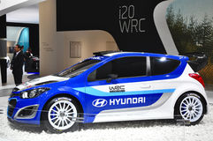 I20 WRC现代集团 免版税库存照片