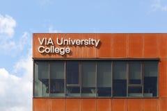IA κτήριο Πανεπιστημιακού κολεγίου στη Δανία Στοκ Φωτογραφία