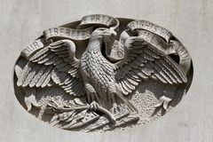 IA λεπτομέρεια αετών κρατικού Capitol Στοκ Φωτογραφίες