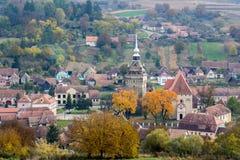 Ia da cena do outono uma vila de Transilvanya foto de stock