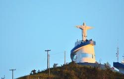 Ia do ³ de Lindà dos guas do  de Ã, SP/Brasil: Estátua de Cristo Imagem de Stock