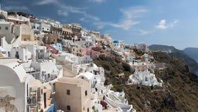 Ia fragment in Santorini - panorama Royalty Free Stock Photography