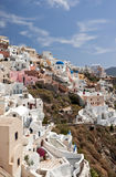Ia fragment in Santorini vertical Royalty Free Stock Photography