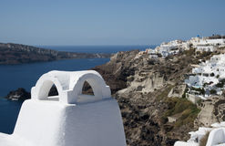 Ia miasteczko, Santorini, Grecja Obrazy Royalty Free