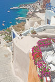 Ia, Santorini, Griekenland. Stock Afbeeldingen