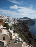 Ia Town, Santorini, Greece. View of Ia Town in Santorini, Greece Stock Photo