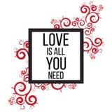Ia tutto che di amore abbiate bisogno di Immagini Stock Libere da Diritti