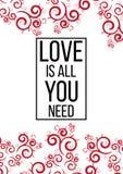Ia tutto che di amore abbiate bisogno di Immagine Stock Libera da Diritti