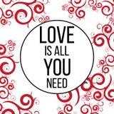 Ia tutto che di amore abbiate bisogno di Immagini Stock